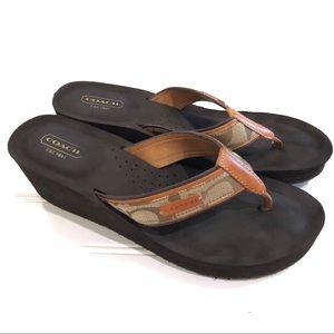 COACH Juliet Wedge Sandals Flip-Flops